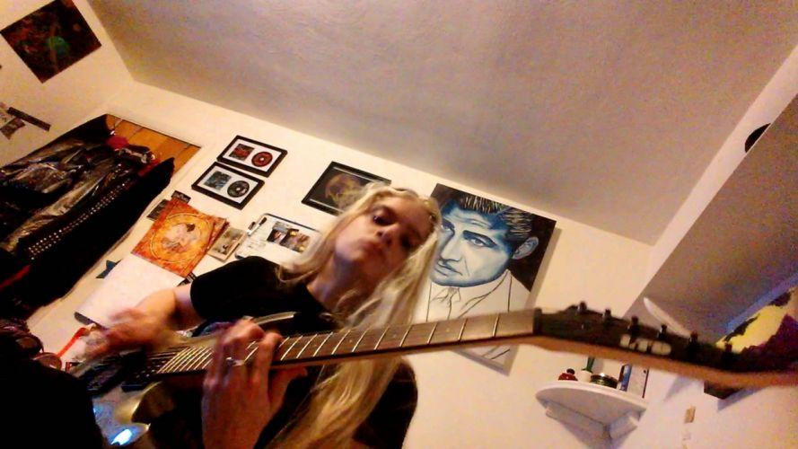guitar heavy metal girl wallpaper