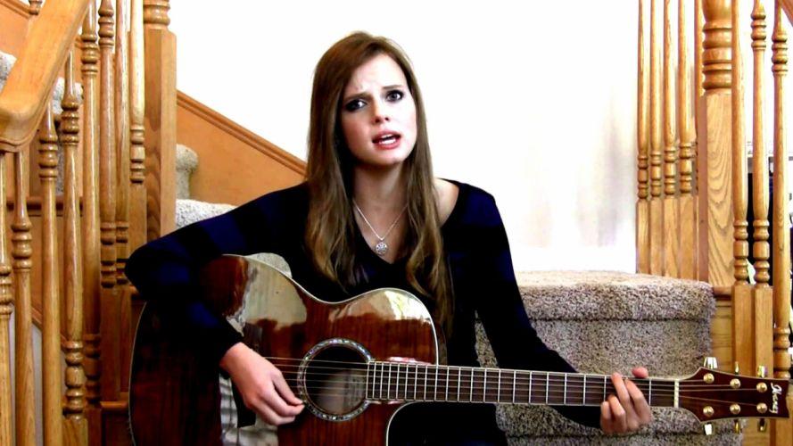girl guitar country wallpaper