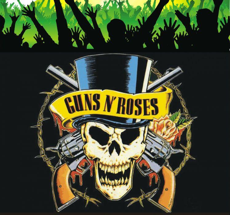GUNS N ROSES heavy metal hair hard rock poster dark skull wallpaper