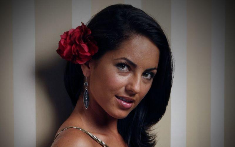 brunettes women close-up actress models faces Barbara Mori Uruguayan wallpaper