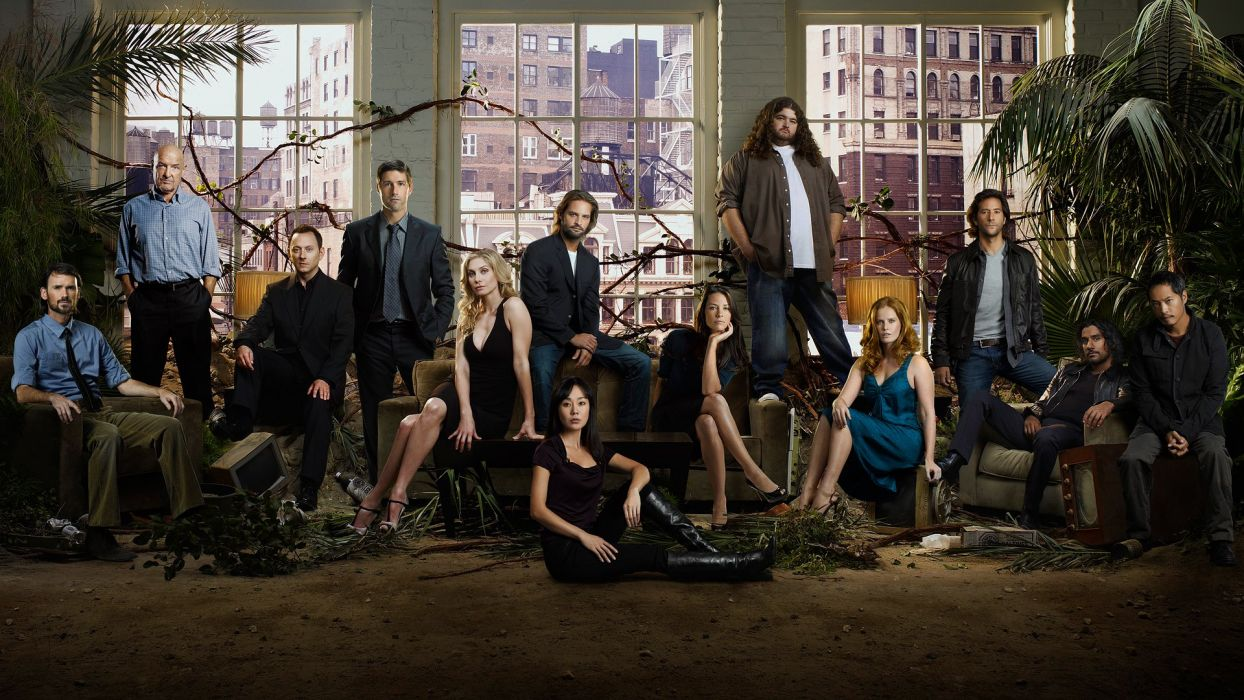 Evangeline Lilly Lost (TV Series) Jorge Garcia television cast wallpaper