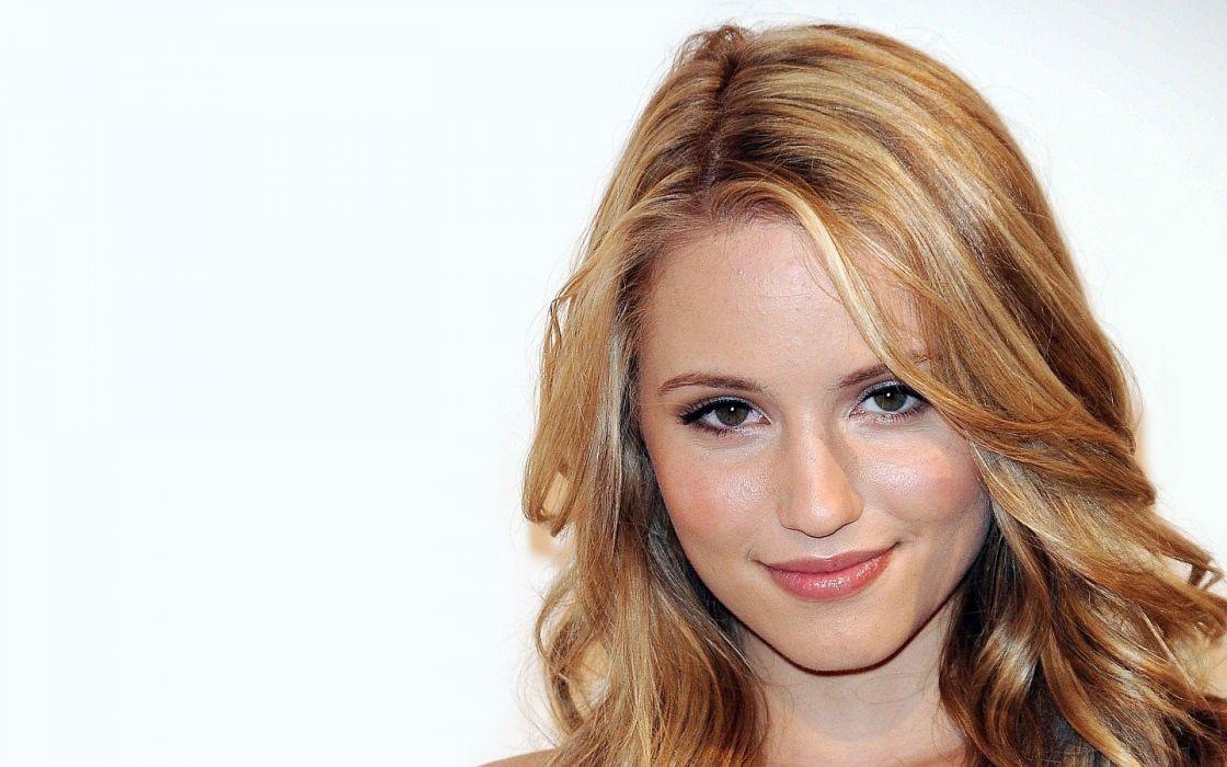 blondes women close-up actress Dianna Agron faces wallpaper