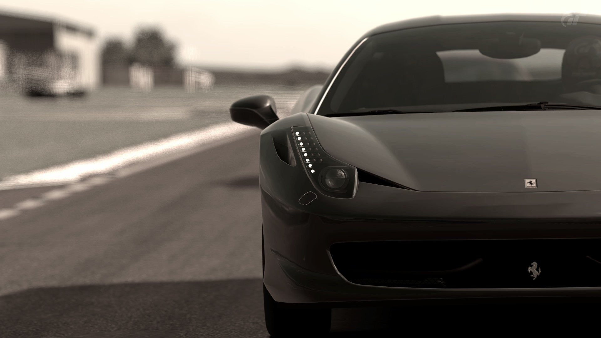 video games cars grayscale gran turismo ferrari 458 italia wallpaper 1920x1080 326221 wallpaperup - Ferrari 458 Italia Wallpaper 19201080