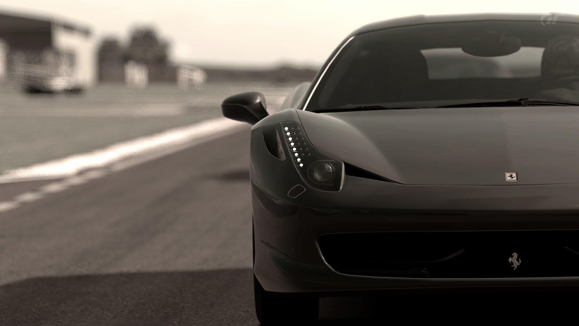 Video Games Cars Grayscale Gran Turismo Ferrari 458 Italia