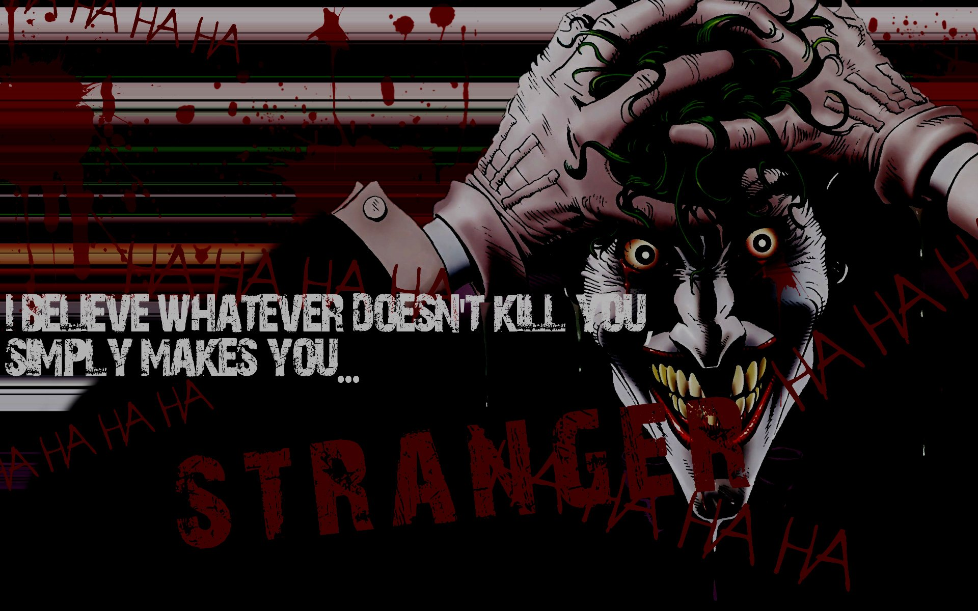 DC Comics The Joker Typography What Doesnt Kill You Wallpaper | 1920x1200 |  326228 | WallpaperUP