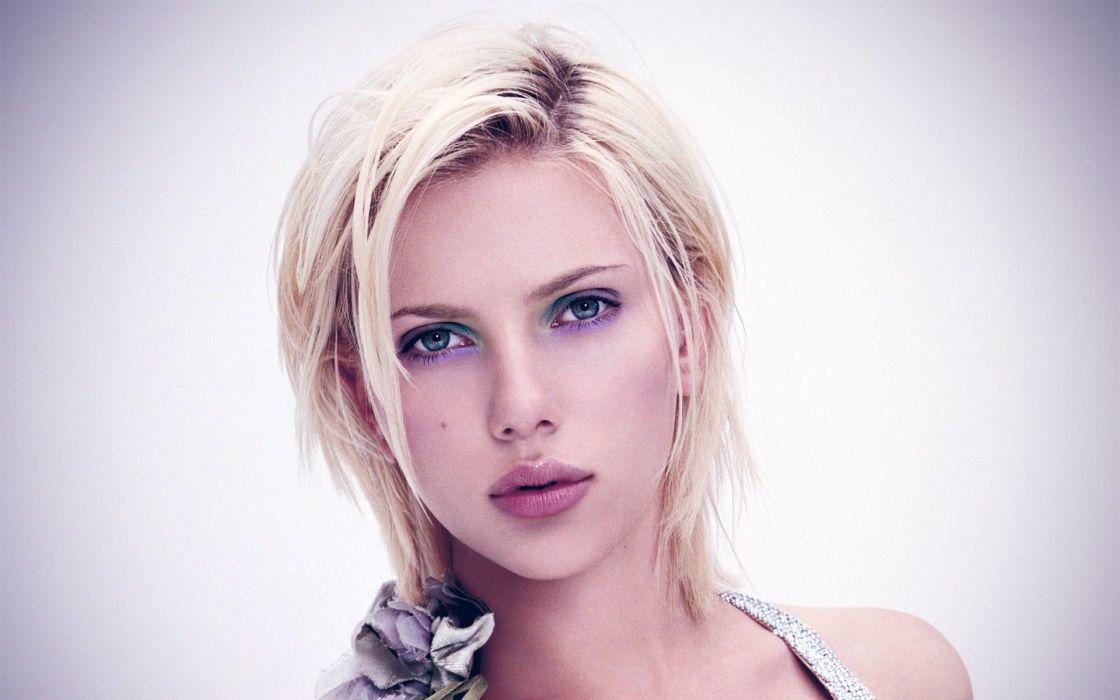 women Scarlett Johansson actress celebrity simple background faces portraits wallpaper
