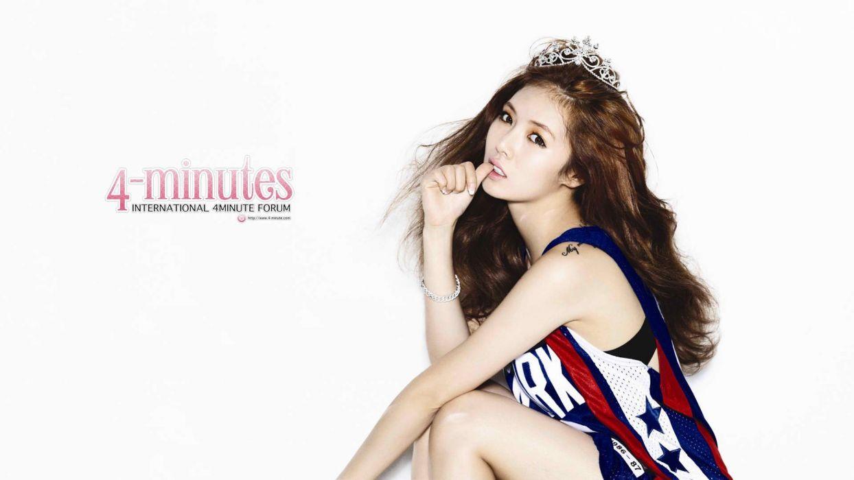 Asians Korean K-Pop 4Minute Kim Hyuna Hyuna wallpaper