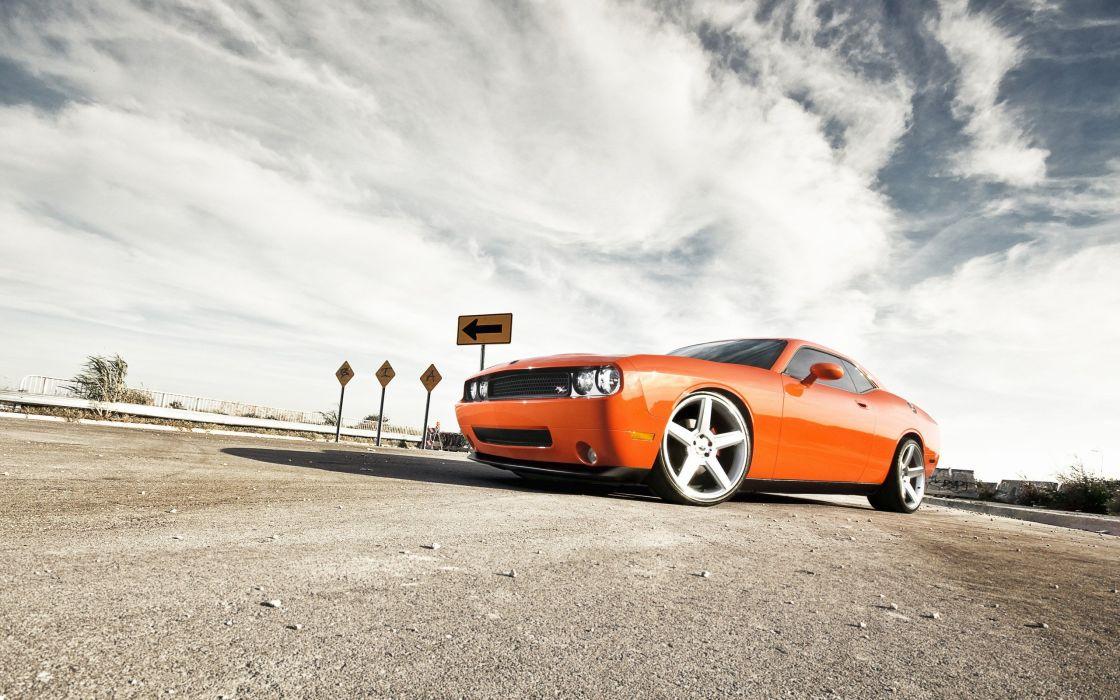 cars vehicles Dodge Challenger SRT8 wallpaper