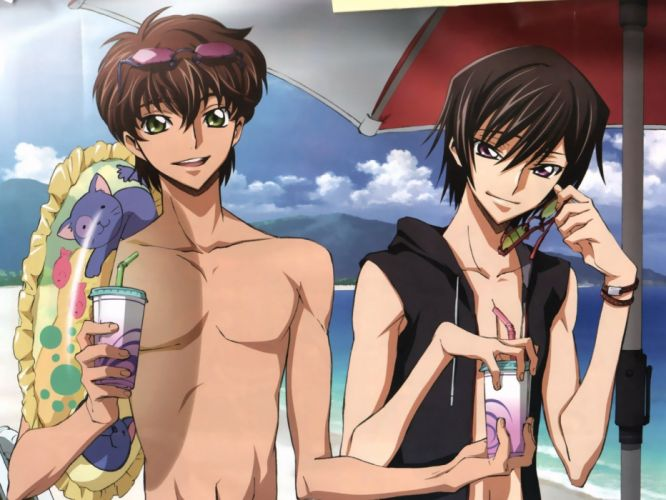 Code Geass Kururugi Suzaku Lamperouge Lelouch beaches wallpaper