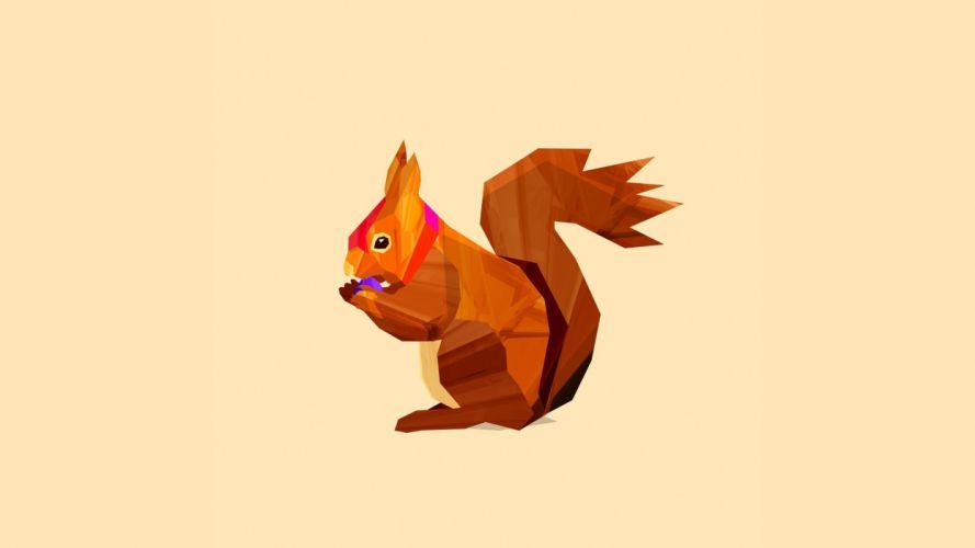 abstract squirrels digital art vector wallpaper