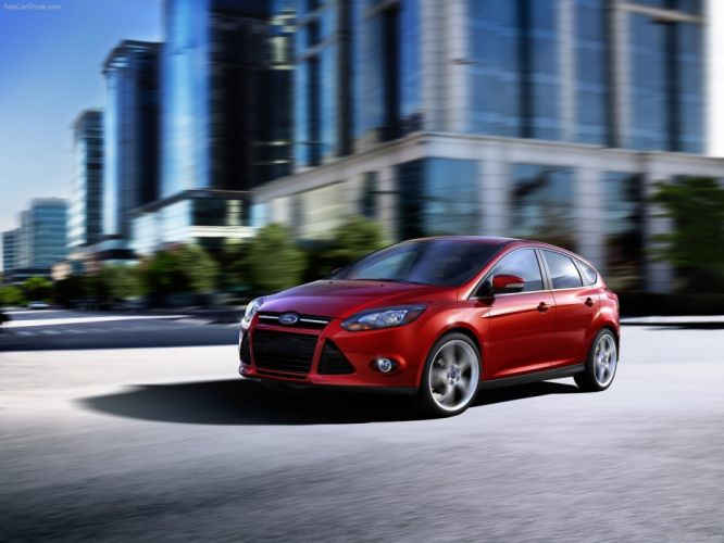 red cars Ford Focus wallpaper