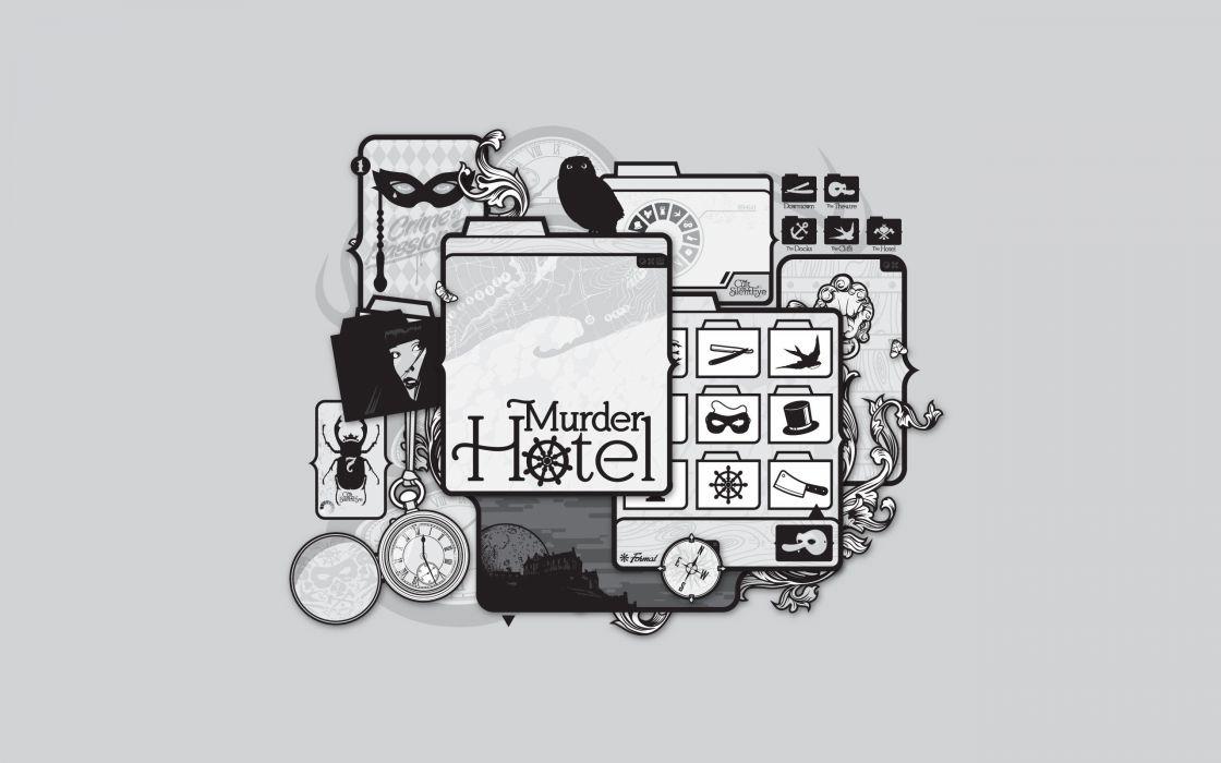 vectors murder artwork hotels JThree Concepts Jared Nickerson wallpaper