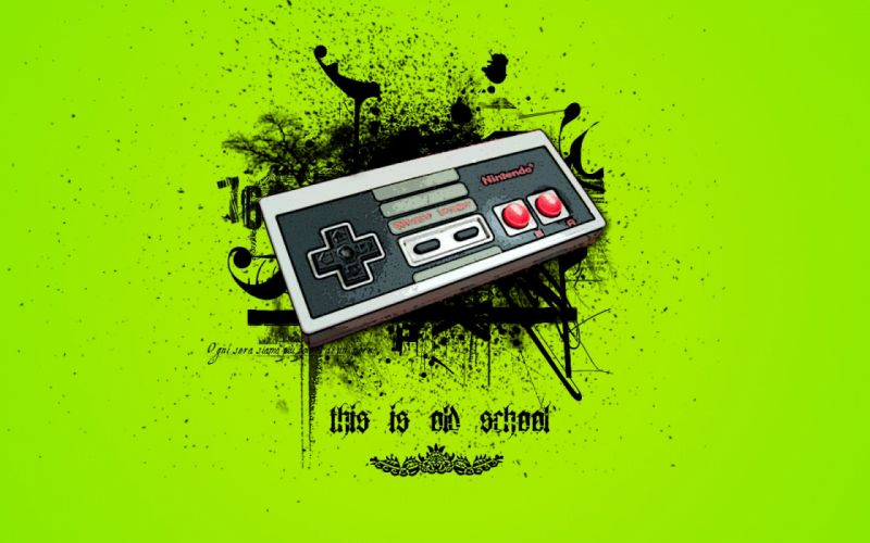 Nintendo oldschool wallpaper