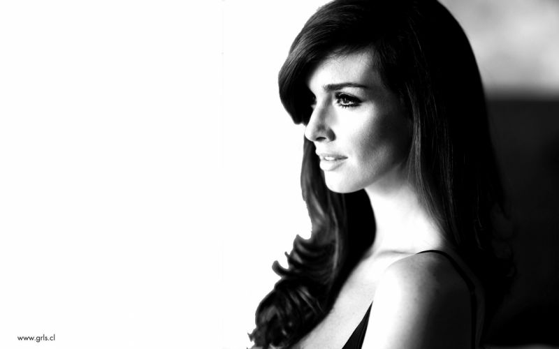 women models monochrome Paz Vega faces wallpaper
