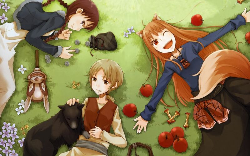 Spice and Wolf animal ears Holo The Wise Wolf apples wallpaper