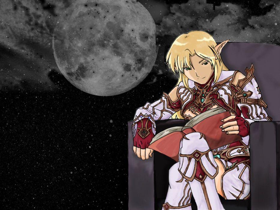 night Moon reading elves Lineage 2 wallpaper