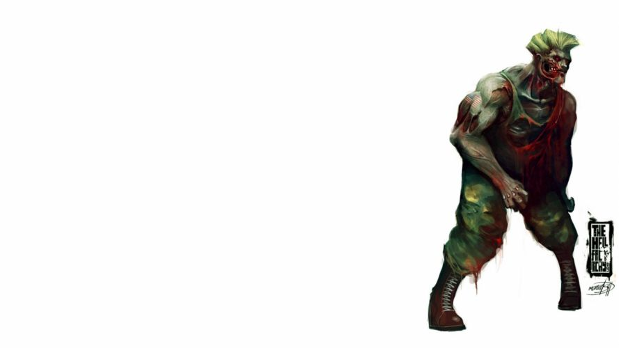 zombies Street Fighter Guile simple background wallpaper