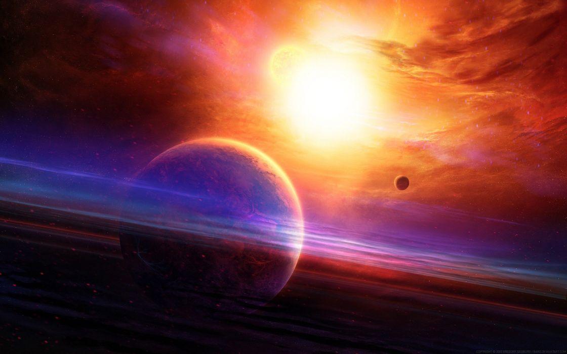 red planets fantasy art artwork wallpaper