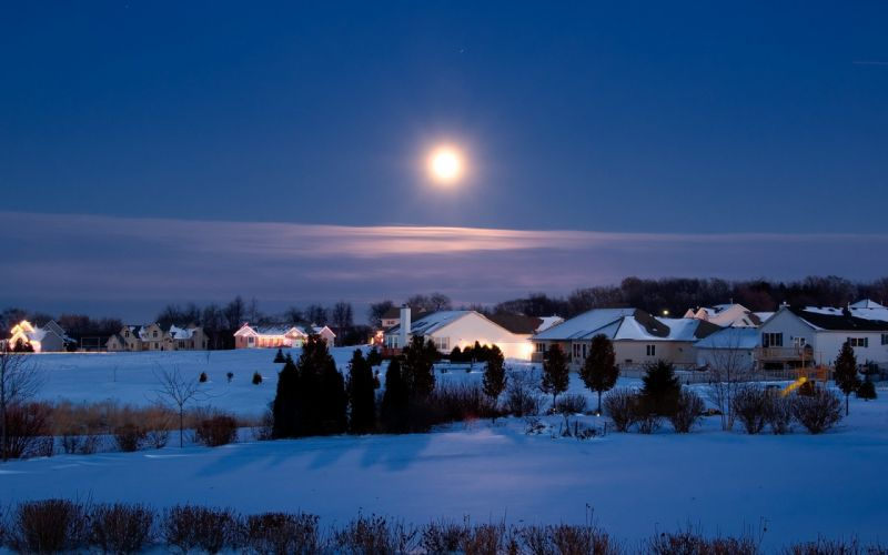 landscapes Moon December wallpaper