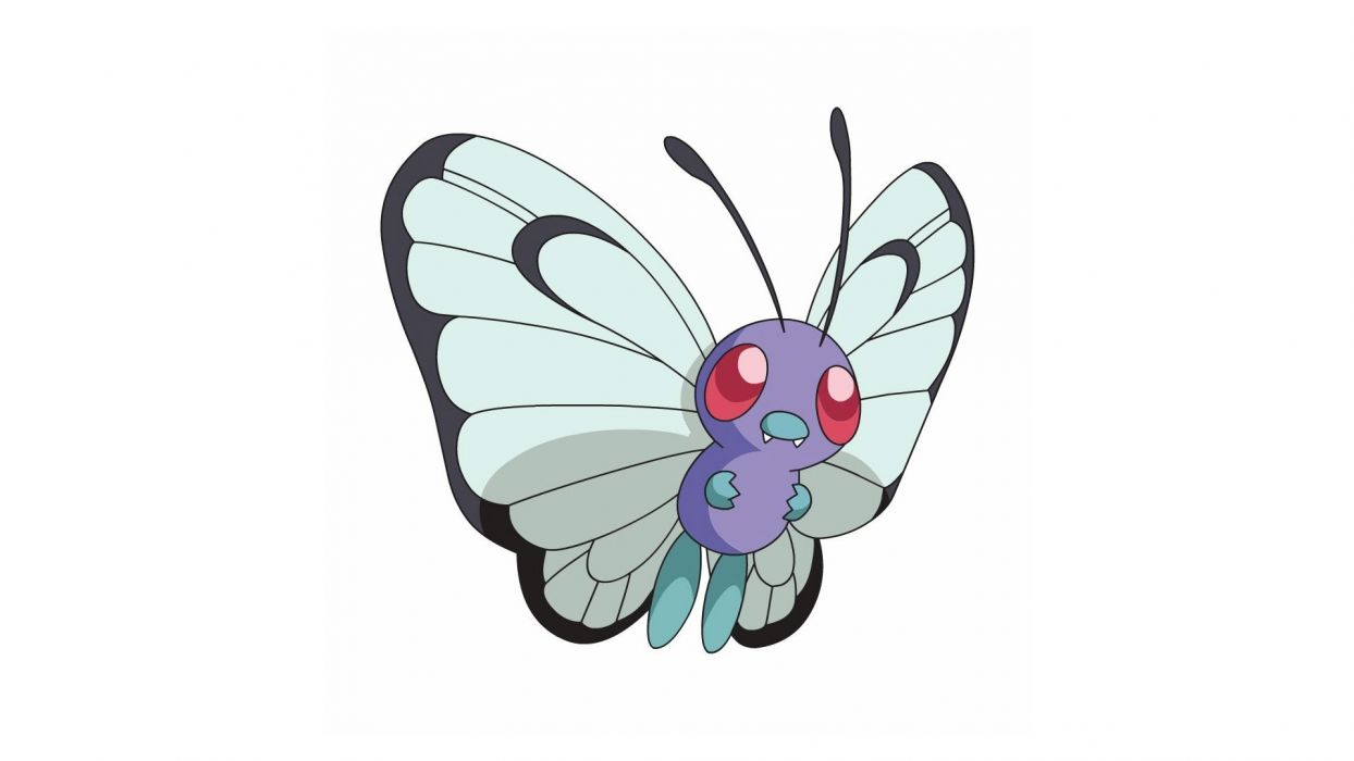 Pokemon simple background Butterfree white background wallpaper