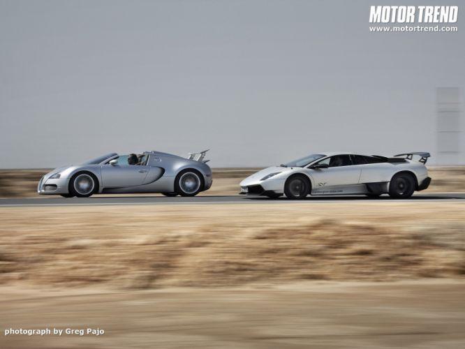 cars Bugatti Veyron grand Lamborghini Murcielago Lamborghini MurciAIA wallpaper