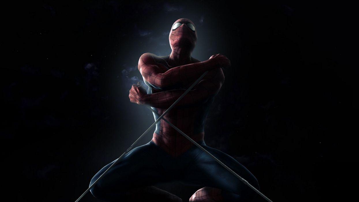 dark Spider-Man smoke superheroes muscles Marvel Comics black background Marvel: Ultimate Alliance wallpaper
