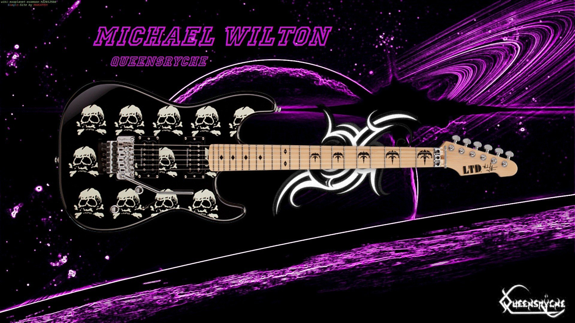 Outer space music planets instruments guitars wallpaper for Outer space guitar