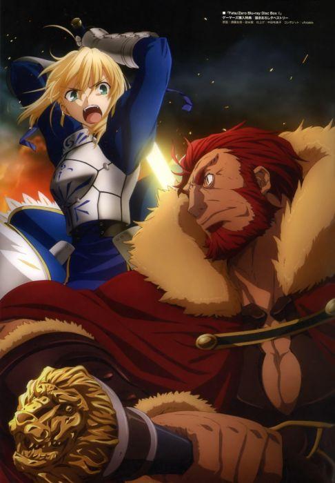 Fate/Stay Night anime Saber  Fate/Zero Rider (Fate/Zero) Fate series wallpaper