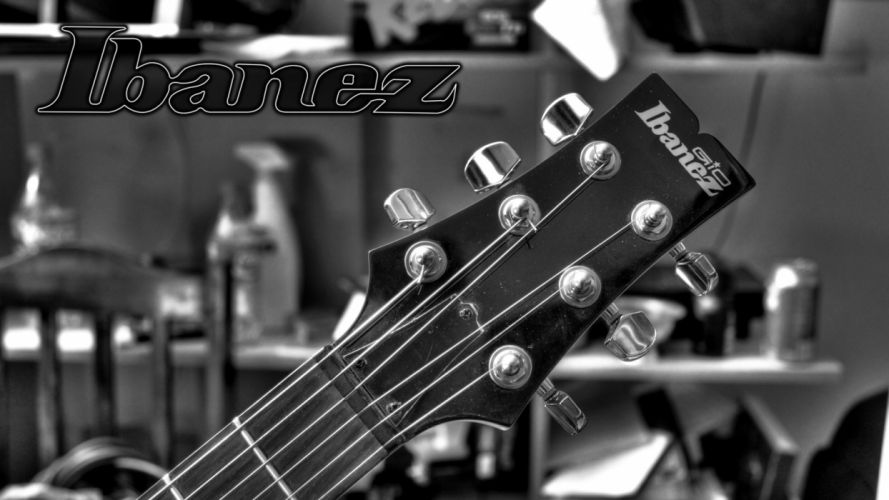 grayscale guitars Ibanez wallpaper