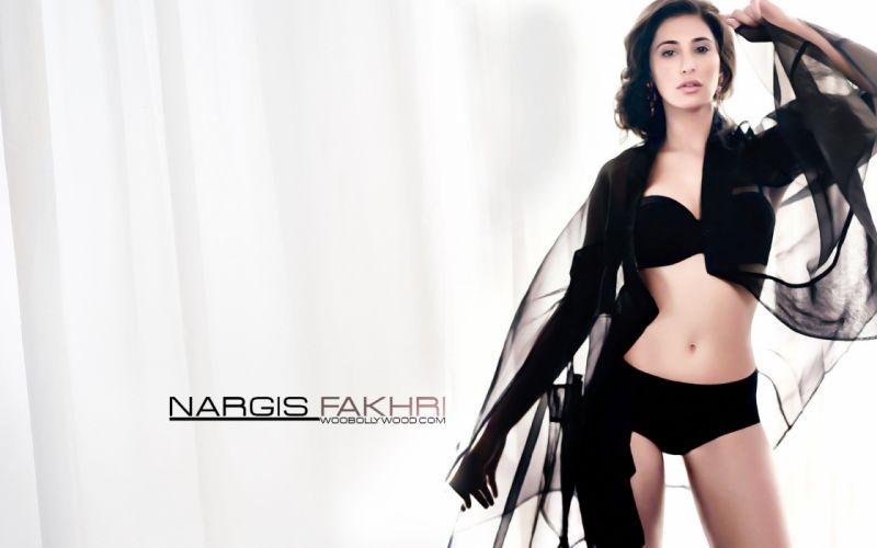 NARGIS FAKHRI actress bollywood model babe sexy bikini wallpaper