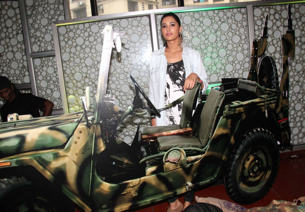NARGIS FAKHRI actress bollywood model babe jeep sexy military wallpaper