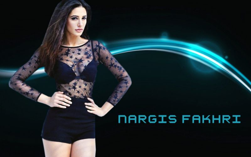 NARGIS FAKHRI actress bollywood model babe sexy wallpaper