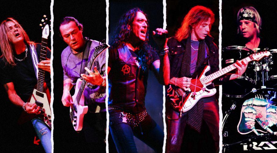 RATT heavy metal hair concert guitar drums wallpaper