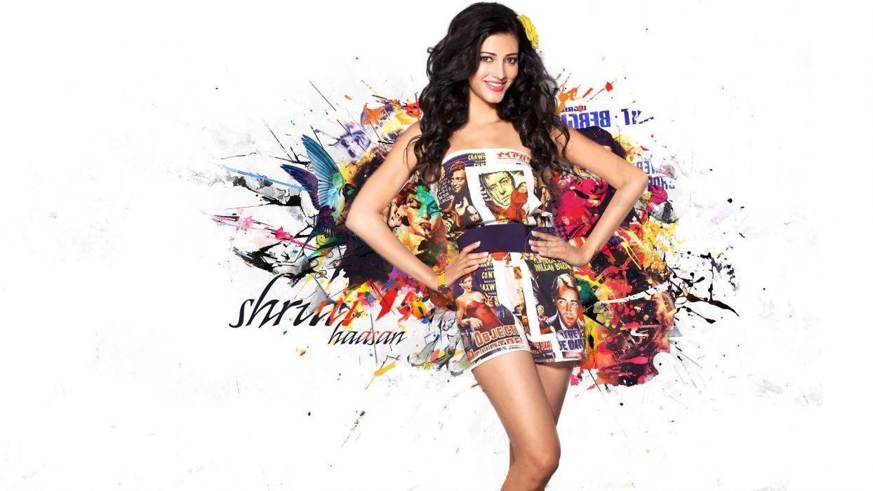SHRUTI HASSAN indian actress bollywood singer model babe (15) wallpaper