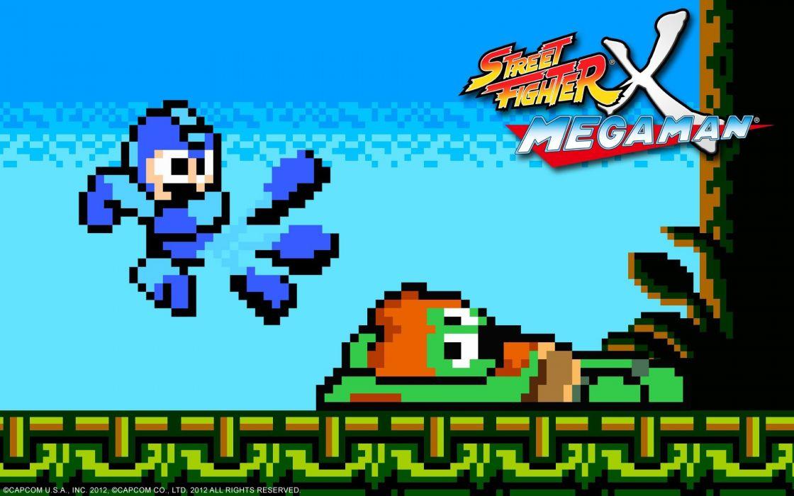 video games Street Fighter Capcom pixel art Rockman Blanka Megaman wallpaper