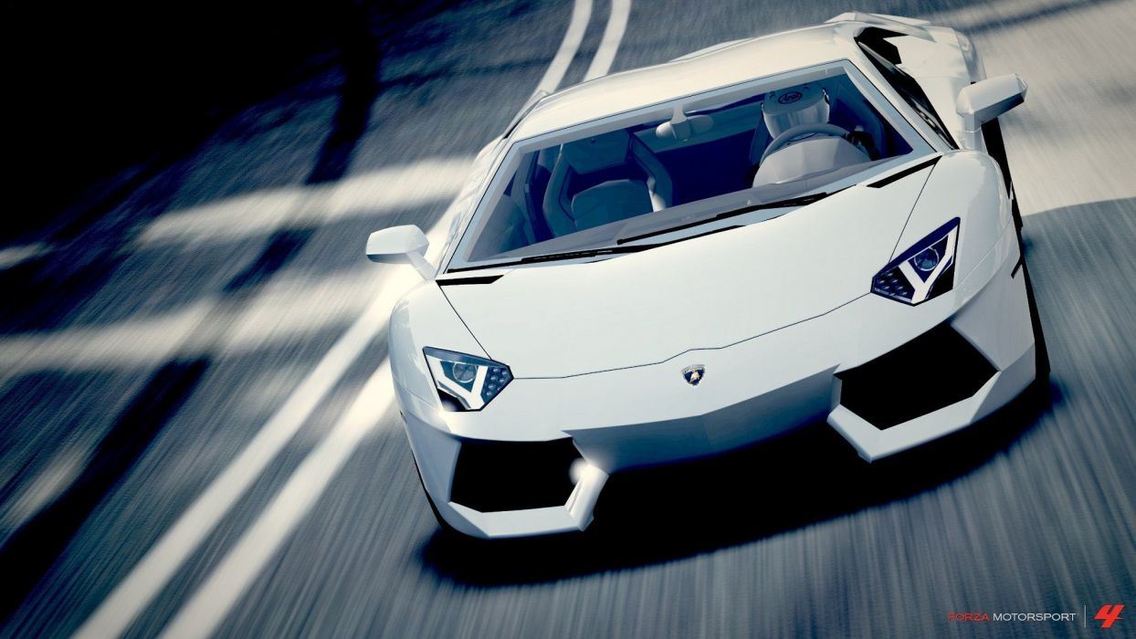 cars Lamborghini Aventador Forza Motorsport 4 wallpaper