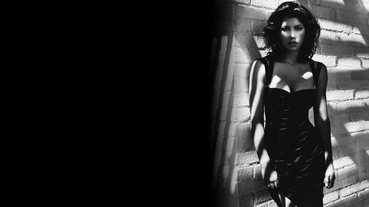 black Jessica Biel wallpaper