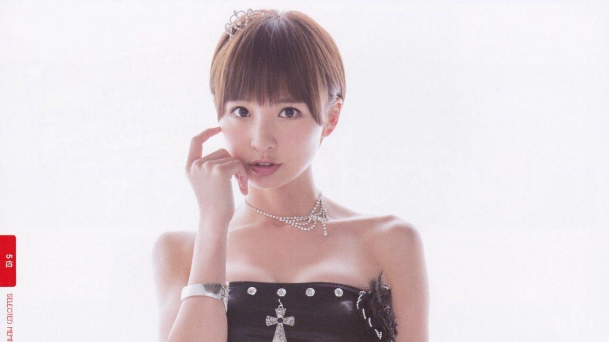 skirts Japanese Asians simple background surprise AKB48 models wallpaper