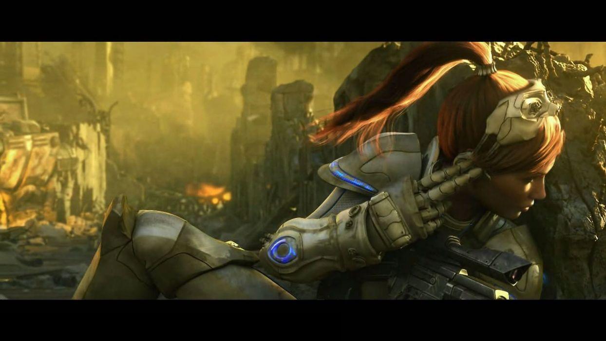 video games ruins ghosts armor Sarah Kerrigan Queen Of Blades StarCraft II wallpaper