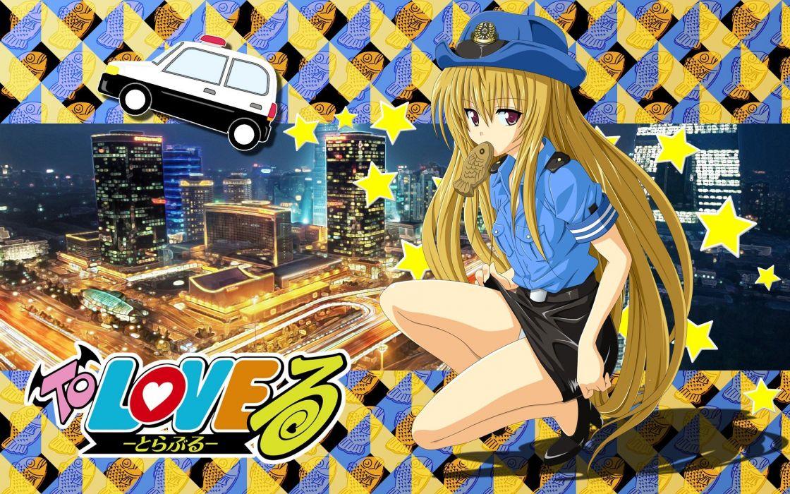blondes uniforms long hair upskirt To Love Ru Golden Darkness wallpaper