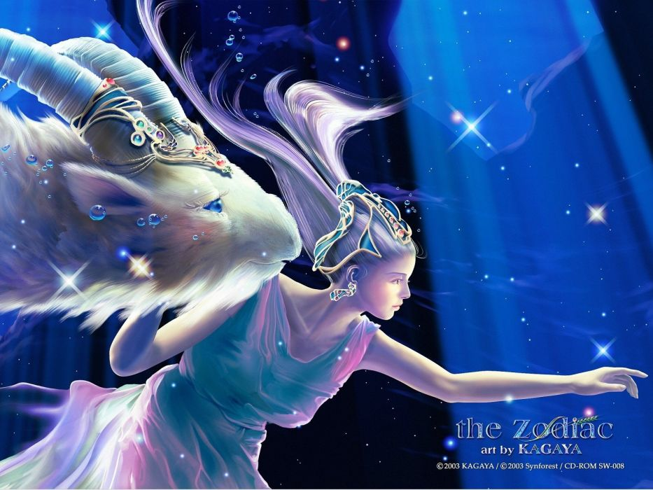 zodiac Kagaya Yutaka Capricorn Zodiac wallpaper