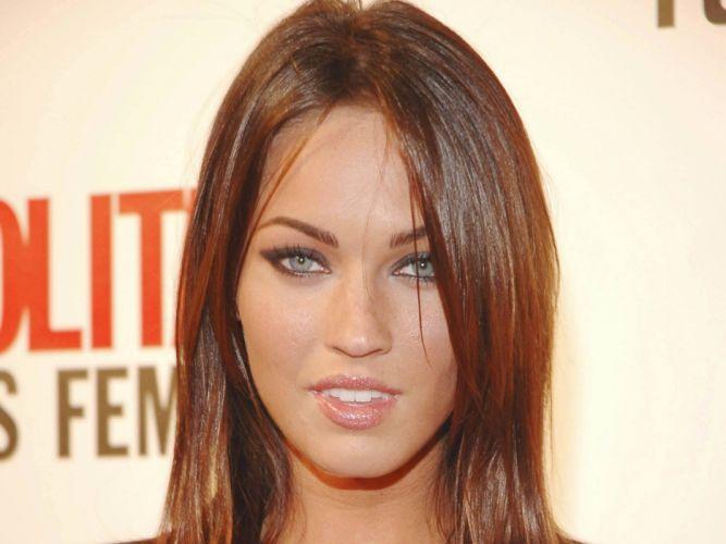 brunettes women Megan Fox actress celebrity smiley face wallpaper