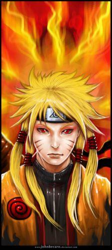 Naruto: Shippuden red eyes digital art Uzumaki Naruto fan art wallpaper