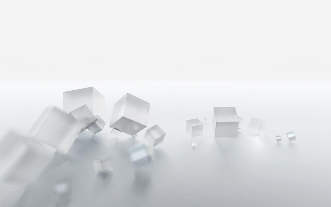 white cubes wallpaper