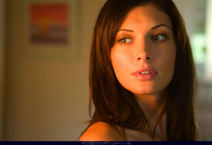 brunettes faces Klaudia Orsi Kocsis wallpaper