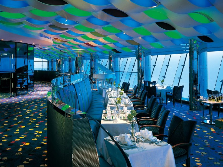 design interior restaurant Burj Al Arab wallpaper