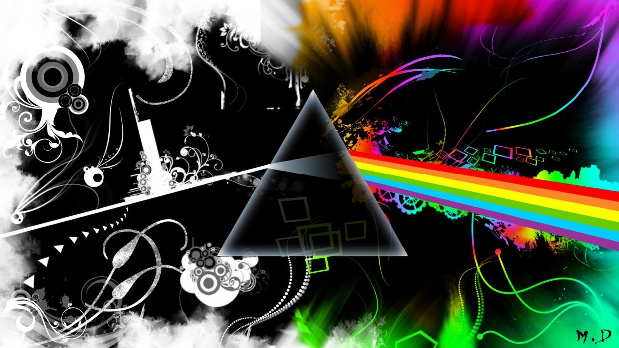 abstract music Pink Floyd multicolor Rock music The Dark Side Of The Moon another brick in the wall wallpaper