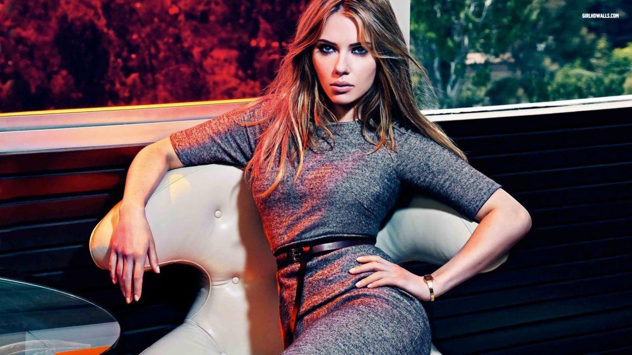 brunettes women Scarlett Johansson actress wallpaper