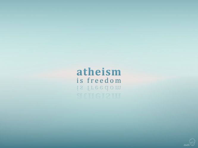 typography atheism wallpaper