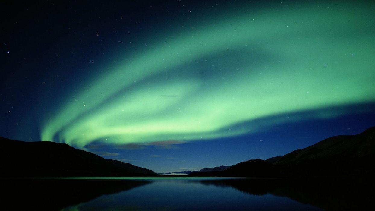 aurora borealis nighttime skyscapes wallpaper